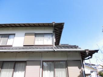 三島台風雨樋破損