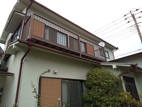 沼津市スレート屋根劣化でシリコン塗装!雨漏りを防ぐタスペーサー設置