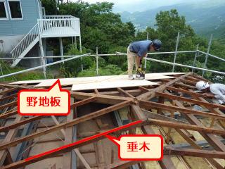 三島別荘葺き替え施工