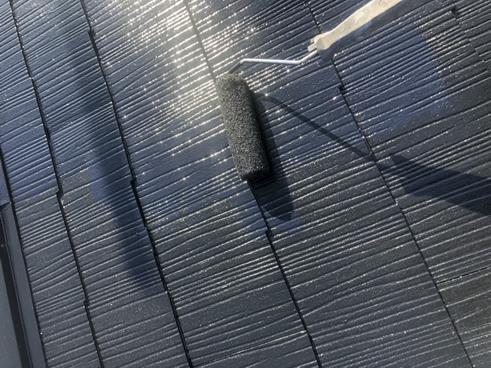 裾野屋根中塗り