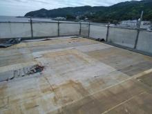 熱海既存屋根材撤去
