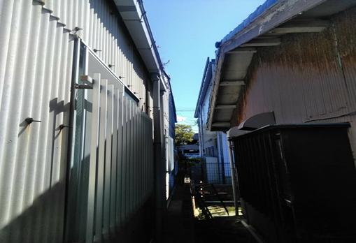 沼津市の工場で雨樋から雨水が溢れてしまう原因を調査しました!