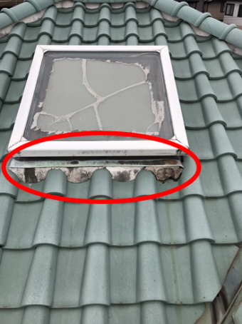 三島雨漏り天窓漆喰